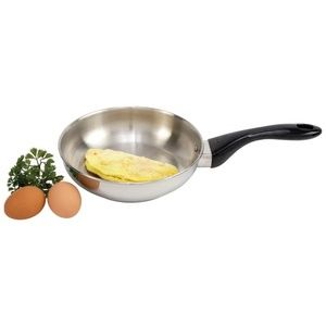 """8-1/4"""" 12-Element T304 Stainless Steel Omelet Pan"""